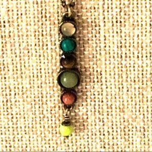 Lia Sophia stone drop necklace boho hippie